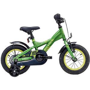 Двухколесный велосипед  XXlite 12 дюймов, черно-зеленый Scool. Цвет: schwarz/grün