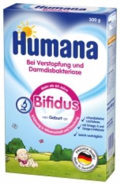 Молочная смесь  Bifidus адаптированная 0-6 месяцев, 300 г, 1 шт Humana