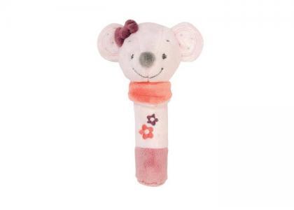 Мягкая игрушка  Cri-Cris Adele & Valentine Мышка 17 см Nattou