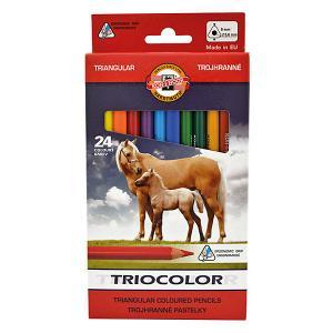 Набор цветных карандашей  Jumbo, 24 цвета KOH-I-NOOR. Цвет: красный