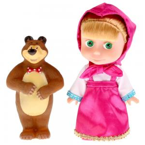 Кукла  Маша и Медведь 15 см Карапуз