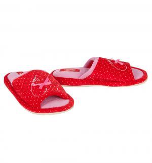 Тапочки , цвет: красный/белый Effa