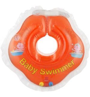 Круг  полуцвет+погремушка, цвет: оранжевый Baby Swimmer