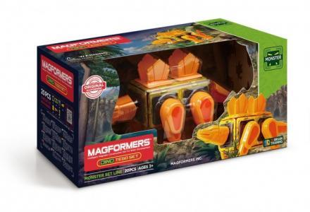 Конструктор  Магнитный Dino Tego set (20 деталей) Magformers