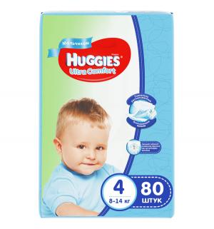 Подгузники  Ultra Comfort Giga 4 для мальчиков (8-14 кг) 80 шт. Huggies