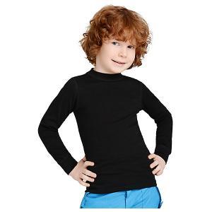 Футболка с длинным рукавом  для мальчика Norveg. Цвет: черный