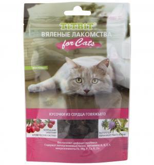 Лакомство  Вяленые лакомства для взрослых кошек Сердце говяжье, 50г TitBit