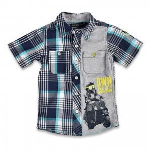 Рубашка для мальчика BLUE SEVEN. Цвет: серый