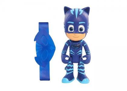 Игровой набор фигурка Кэтбой 8 см со светом и браслет Герои в масках (PJ Masks)