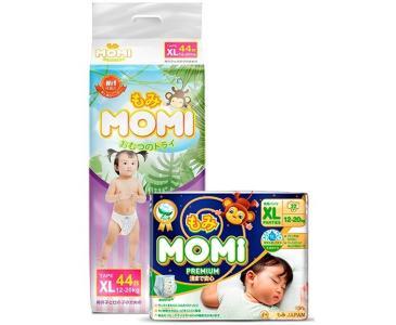 Набор Подгузники XL и Ночные трусики премиум (12-20 кг) Momi