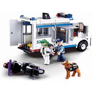 Конструктор  Полиция Погоня на бронеавтобусе, 117 деталей Sluban. Цвет: разноцветный