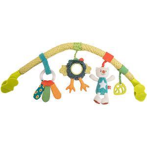 Развивающая дуга с игрушками  Весёлая горка Happy Baby. Цвет: разноцветный