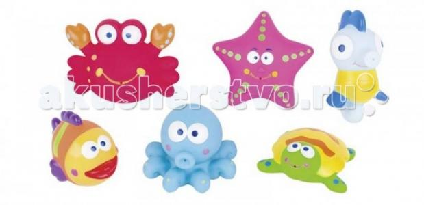 Игрушки для купания животные океана 8-8,5 см (6 цветов) GK
