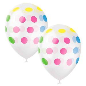 Воздушные шары  Разноцветный горошек 25 шт, декоратор Latex Occidental. Цвет: разноцветный