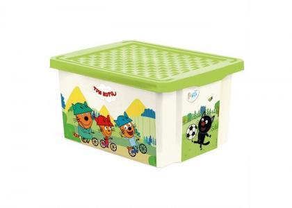 Ящик для хранения Три кота Игры забава 17 л 1625 Little Angel