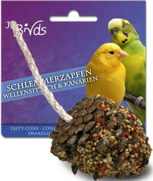 Лакомство  для волнистых попугаев и канареек Лакомая шишка, 1шт JR Farm