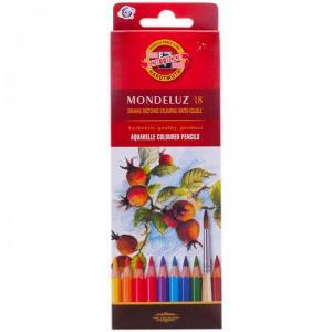Карандаши акварельные Mondeluz 18 цветов Koh-i-Noor