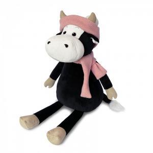 Мягкая игрушка  Коровка Маша в шарфе и шапке 28 см Maxitoys