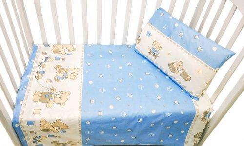 Постельное белье  Мишка с кубиками (3 предмета) Сонная сказка