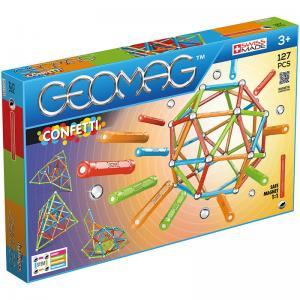 Магнитный конструктор  Confetti 127 деталей Geomag