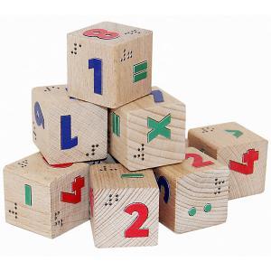 Кубики  Цифры со шрифтом Брайля Краснокамская игрушка