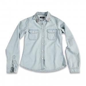 Рубашка для девочки BLUE SEVEN. Цвет: синий