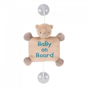 Знак Baby on board Mia & Basile Мишка Nattou