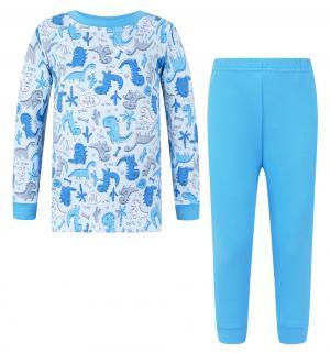 Пижама джемпер/брюки  Dino Blue, цвет: голубой Makoma