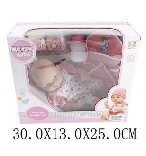 Кукла-пупс  в розовом костюмчике с аксессуарами 30 см Наша Игрушка