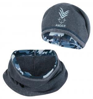 Комплект шапка/шарф , цвет: черный Ander