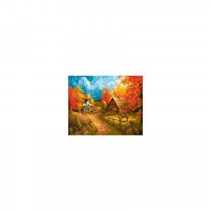 Холст с красками по номерам Деревня осенью 40х50 см Издательство Рыжий кот