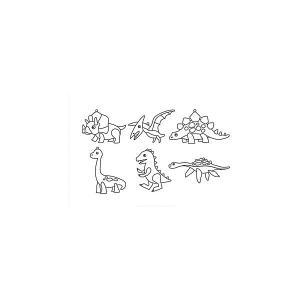 Набор мини-витражей  Динозавры, 6 шт Amos