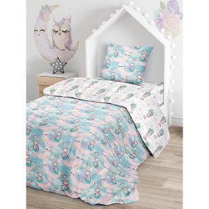 Комплект постельного белья  Милые совы, 1,5-спальное Juno. Цвет: разноцветный