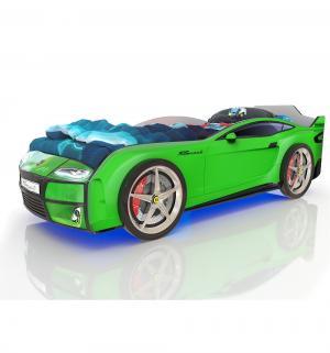 Кровать-машинка  Kiddy, цвет: зеленый Romack