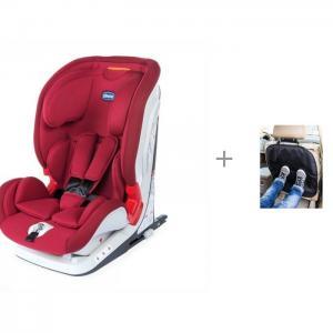 Автокресло  Youniverse Fix и защита сиденья из ткани АвтоБра Chicco