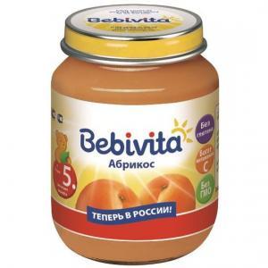 Пюре  абрикос с 5 месяцев, 100 г Bebivita