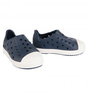 Туфли пляжные  Bumper Toe Shoe Navy/Oyster, цвет: синий Crocs