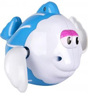 Игрушка  Рыбка заводной механизм цвет: голубой, 12 см Игруша