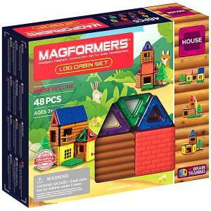 Магнитный конструктор  Log cabin set, 48 деталей MAGFORMERS. Цвет: разноцветный