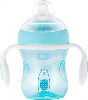 Чашка-поильник  Transition Cup, с 4 месяцев, цвет: голубой Chicco