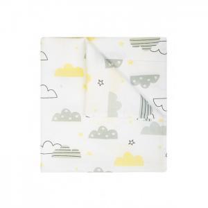 Пеленка  муслиновая Облака Сонный гномик