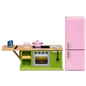 Набор мебели для домика  Смоланд Кухонный с холодильником Lundby. Цвет: разноцветный