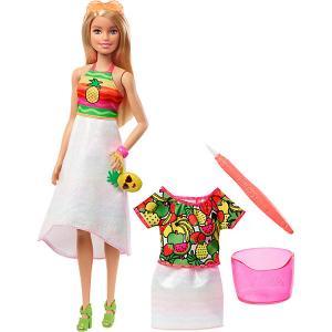 Набор с куклой Barbie x Crayola Фруктовый сюрприз, блондинка Mattel
