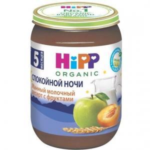 Пюре  манный молочный десерт с фруктами 5 месяцев, 190 г Hipp