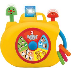 Развивающая игрушка  Забавная камера Kiddieland. Цвет: желтый