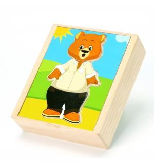 Игрушка  Медвежонок Миша, 13.5 см Мир Деревянных Игрушек