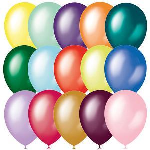 Воздушные шары Металлик и перламутр 14/35 см, 50 шт Latex Occidental