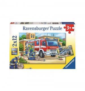 Пазл  Полицейские и пожарные 2х12 Ravensburger