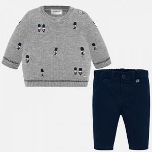 Комплект для мальчика (джемпер и брюки) New Born 2524 Mayoral