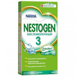 Молочная смесь  Кисломолочный 3 с пребиотиками 12 месяцев, 350 г Nestogen